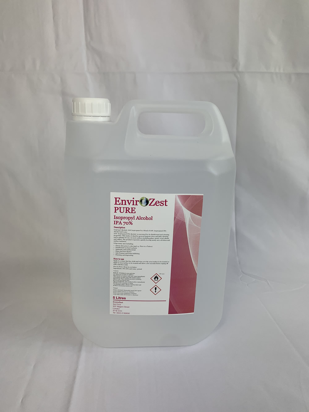 Pure Isopropyl IPA Alcohol 99% 5LTRS