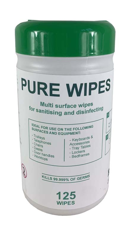 Alcohol Wipes 70% IPA 125 Wipes - Helps Protect against – Coronavirus, Covid 19