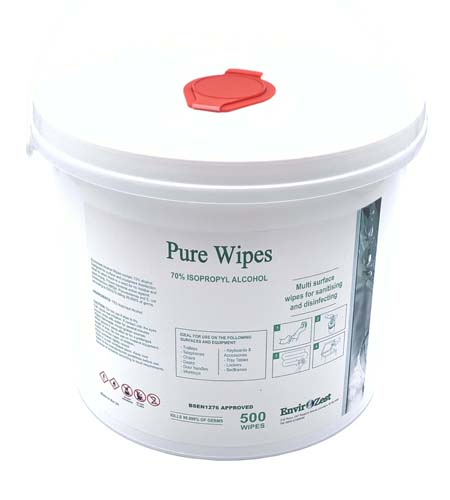 Alcohol Wipes Pure 70% IPA General Surface 500 Wipes - Helps protect against – Coronavirus, Covid 19